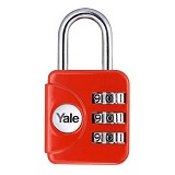 YALE Travel Lock [YP1/28/121/1R] - Red - Gembok Kombinasi